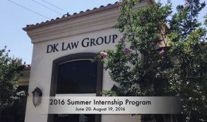 2016 Summer Internship Program at DK Law Group